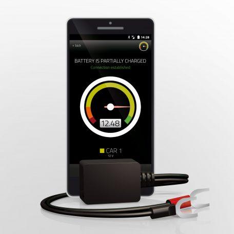 Bluetooth-Sender zum überwachen der Batteriespannung